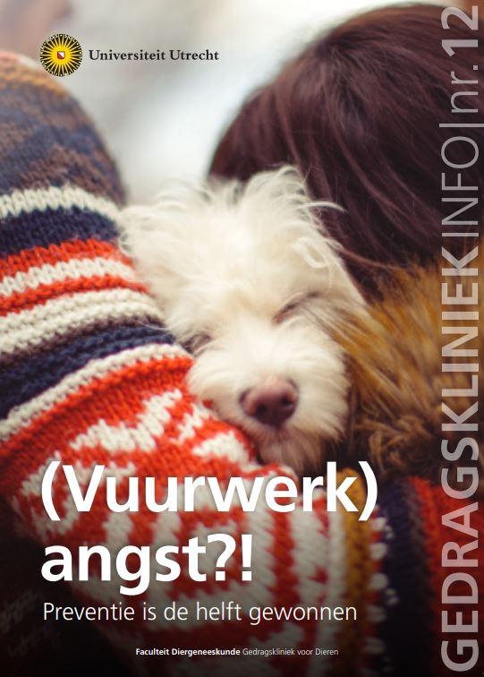 Cover Infobrief Gedragskliniek voor Dieren over gedragsproblemen bij honden, katten en papegaaien.